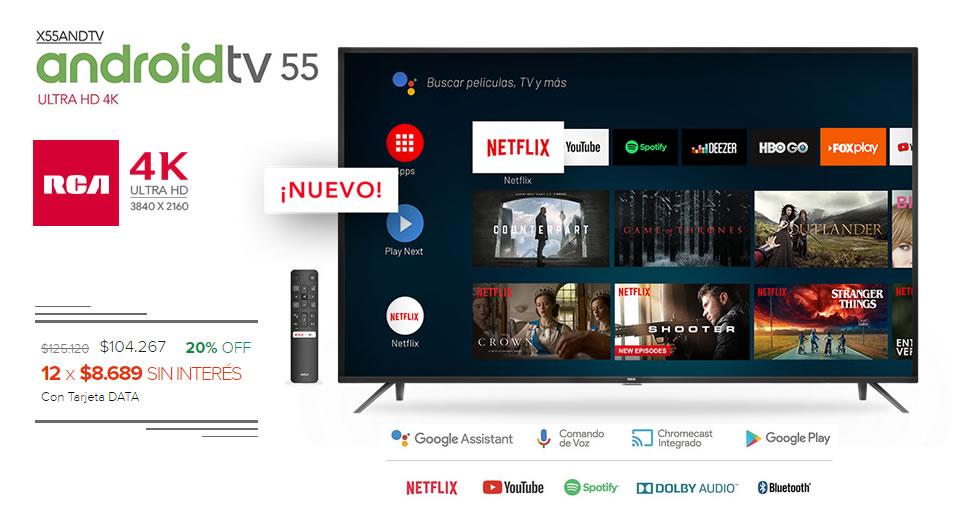 Smart Tv 55″ 4K Uhd RCA X55ANDTV