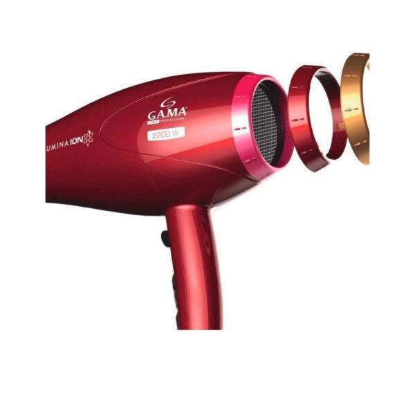 Secador Gama (52825) 2300w Lumina Ion 2/vel 4/temp Cool Shot